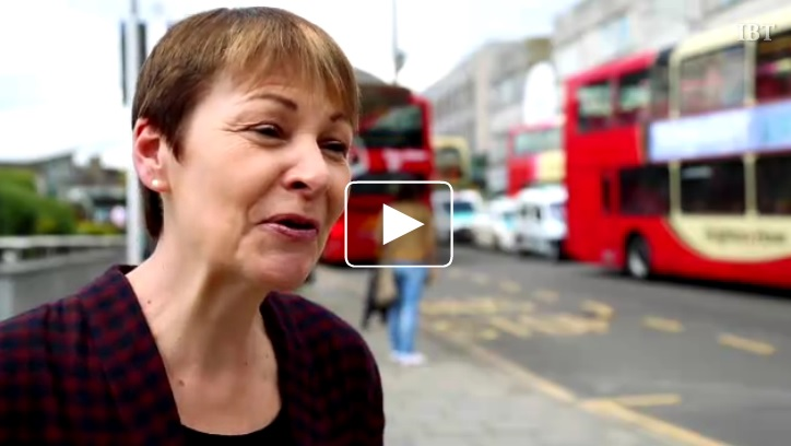 Caroline Lucas of the Green party. (IBT)