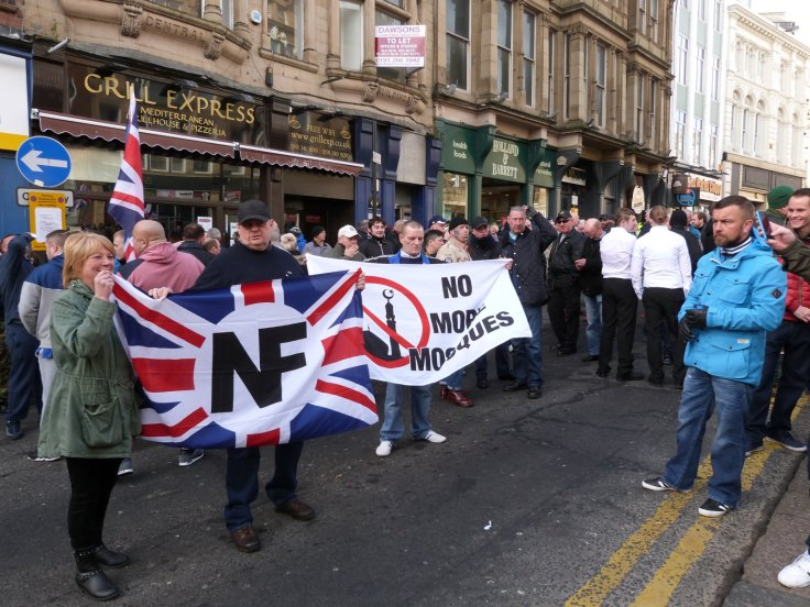 Pegida UK demo in Newcastle. (IBT)