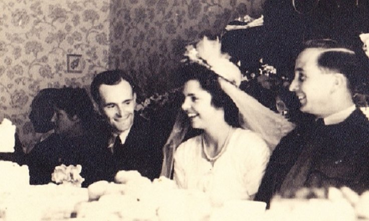 Harry Leslie Smith (L) and his wife Friede on their wedding day in August 1947. (Harry Leslie Smith)